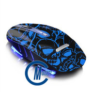 Blue Wireless Skull Mouse | Horizon