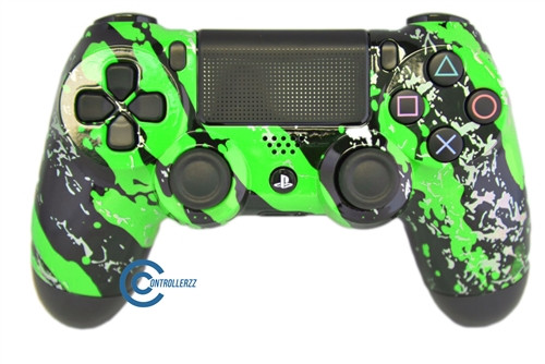 Green Splatter PS4 Controller | Ps4