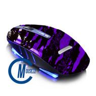 Purple Wireless Splatter Mouse | Horizon