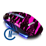 Pink Wireless Splatter Mouse | Horizon
