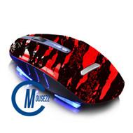 Red Wireless Splatter Mouse | Horizon