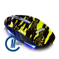 Yellow Wireless Splatter Mouse | Horizon