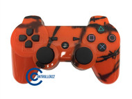 Orange Barbed Wire PS3 Controller | PS3