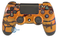 Orange Barbed Wire PS4 Controller | PS4