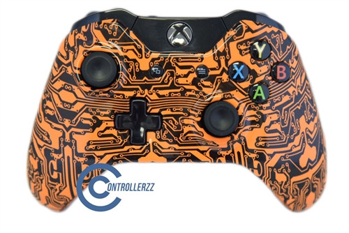 Orange Circuit Board Xbox One Controller | Xbox One
