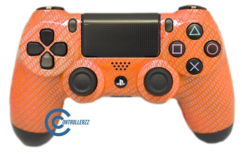 Orange Carbon Fiber PS4 Controller   PS4