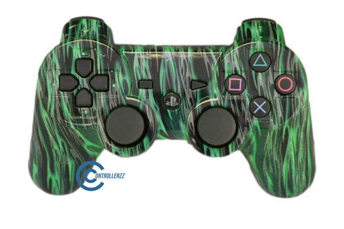 Green Flame PS3 Controller | Ps3