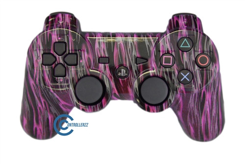 Pink Flame PS3 Controller | Ps3