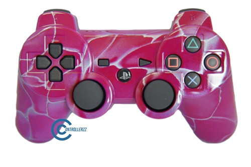 Pink Swirl PS3 Controller | Ps3
