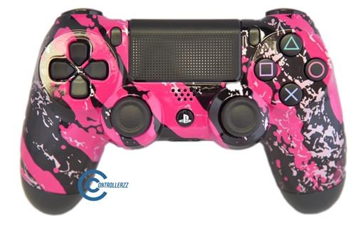 Pink Splatter PS4 Controller | Ps4