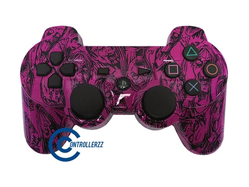 Pink Zombie PS3 Controller | Ps3