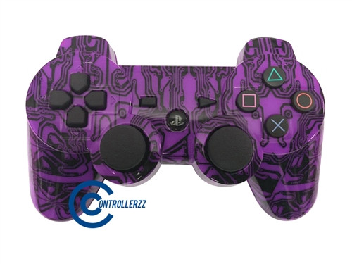 Purple Circuit Board PS3 Controller | Ps3