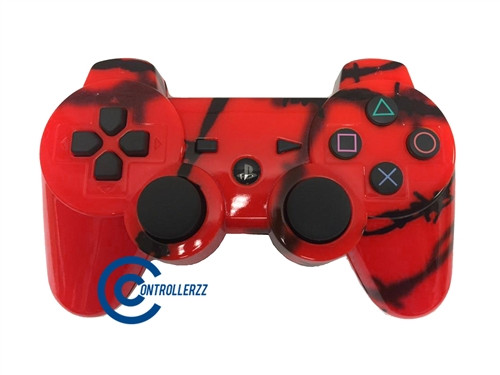 Red Barbed Wire PS3 Controller | Ps3