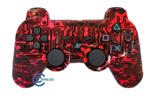 Red Circuit Board PS3 Controller | Ps3