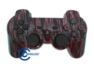 Red Flame PS3 Controller | Ps3