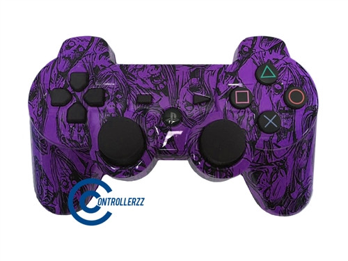 Purple Zombie PS3 Controller | Ps3