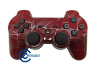 Red Swirl PS3 Controller | Ps3