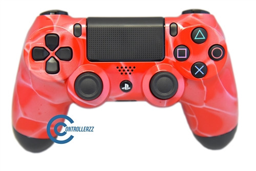 Red Swirl PS4 Controller | Ps4