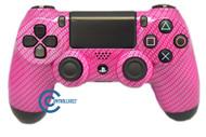 Pink Carbon Fiber PS4 Controller | Ps4