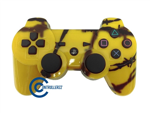 Yellow Barbed Wire PS3 Controller | Ps3