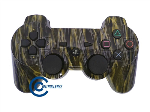 Yellow Flame PS3 Controller | Ps3
