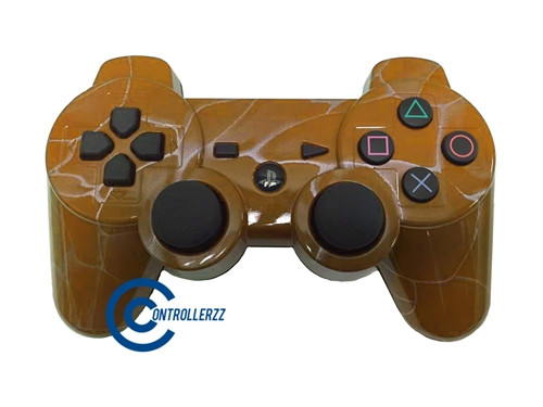 Orange Swirl PS3 Controller | PS3