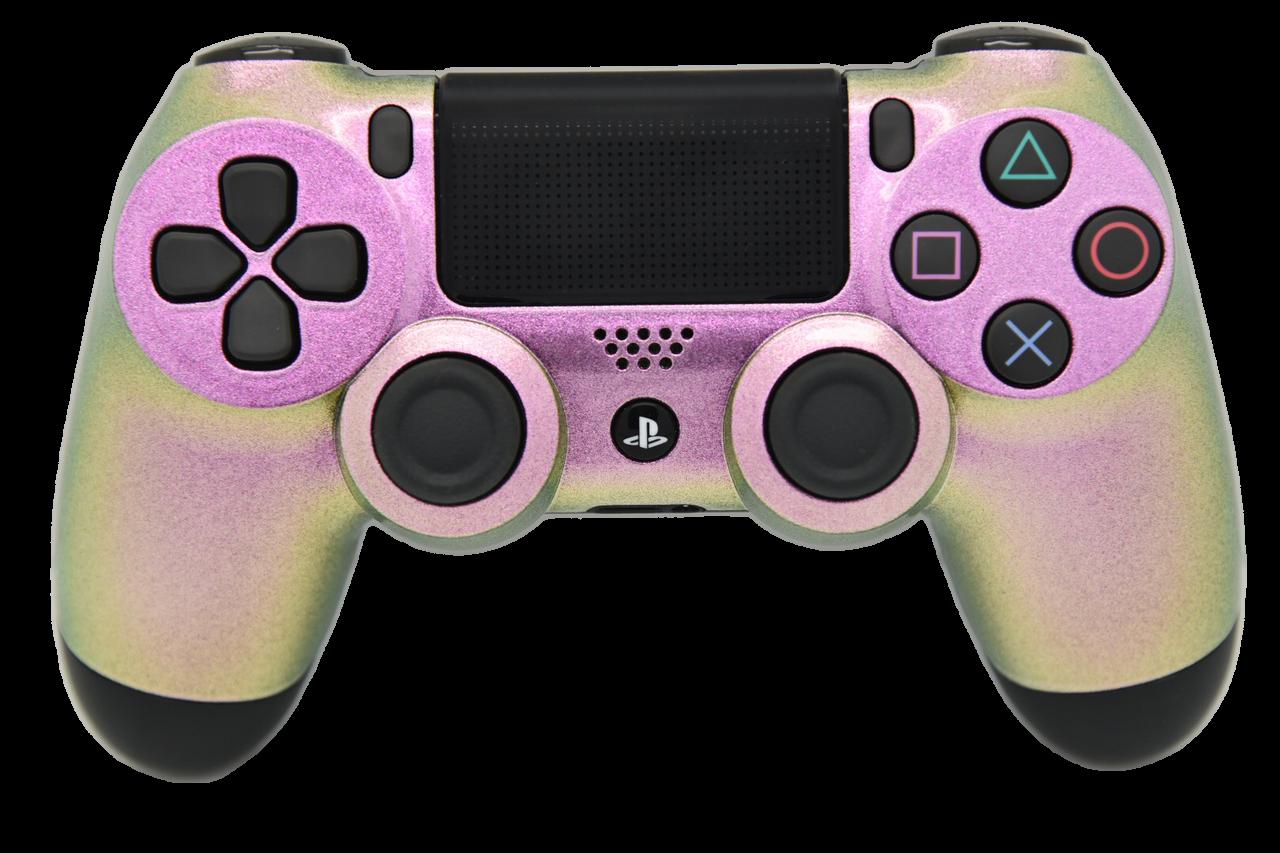 Pink Chameleon PS4 Controller