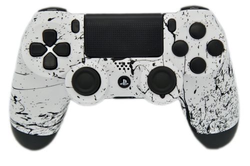 White & Black Splatter PS4 Controller | PS4
