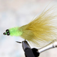 Chartreuse Olive Toad Tarpon Fly