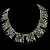 Handmade jewellery checkerboard beaded necklace