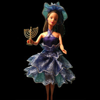 Handstitched Chanukah Fashion Doll Fashion