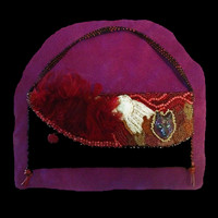 Handmade, handbeaded wolf purse, private collection