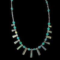 """""""Abalone Spring"""" shell and bead necklace Designed by Batya exclusively for Lisa Todd boutique in Boca Raton, FL"""
