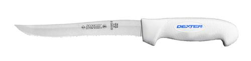 """Dexter Russell SofGrip 8"""" Scalloped Utility Slicer 24253 SG1158SC"""