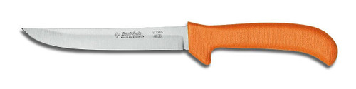 "Dexter Russell Sani-Safe 6"" Hollow Ground Deboning Knife Orange Handle 11233 Ep156Hg"