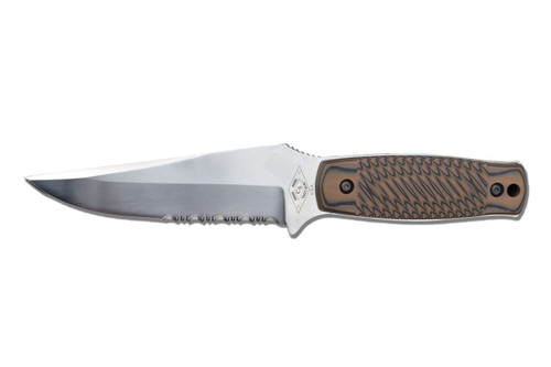 Dexter Russell Green River Carry Knife Serrated Uncoated Blade Brown Handle 45000 40404Hb