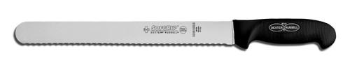 """Dexter Russell SofGrip 12"""" Scalloped Roast Slicer 24243B SG140-12SC"""