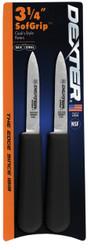 "Dexter Russell SofGrip 3 1/4"" 2-Pack Cooks Paring Knife 24543B SG104B"