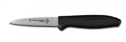 "Dexter Russell SofGrip 3 1/2"" Scalloped Paring Knife 24363B SG105SC"