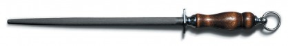 "Dexter Russell 5/8"" x 14"" Butcher Steel Hardwood Handle 07060 A14R-PCP"