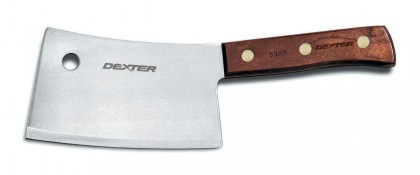 """Dexter Russell Traditional 7"""" High Carbon Steel Cleaver 08070 5387"""