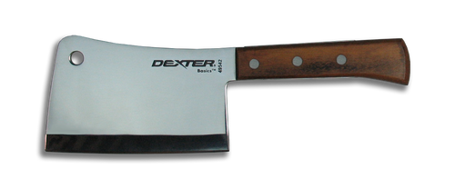 """Dexter Russell Basics 6"""" Stainless Steel Cleaver 49542"""