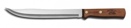 """Dexter Russell Traditional 8"""" Scalloped Utility Slicer 13520 S42G8SC-PCP (13520)"""