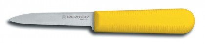 """Dexter Russell Sani-Safe 3 1/4"""" Cooks Style Paring Knife Yellow Handle 15303Y S104Y-PCP (15303Y)"""