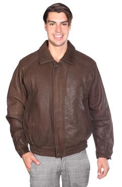 Wilda | Sean Leather Bomber Jacket