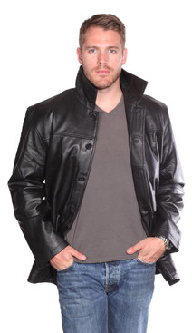 NuBorn Leather | Luckas Leather Carcoat