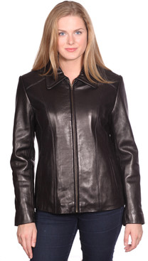 NuBorn Leather | Lisa Leather Scuba Jacket