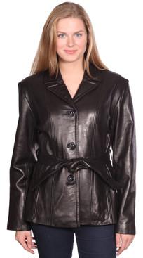 NuBorn Leather   Amelia Leather Blazer