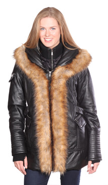 Christian NY | Jenny Leather Parka