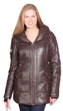 Christian NY | Vivian Leather Coat